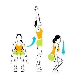 Plie jump squats