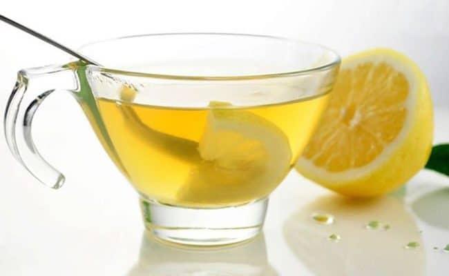 hot lemon water in the morning
