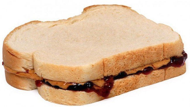 peanut butter and jelly sandwitch