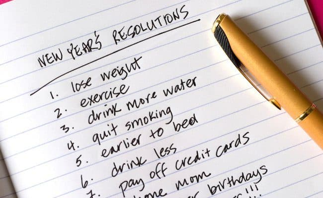 set new year resolutions work