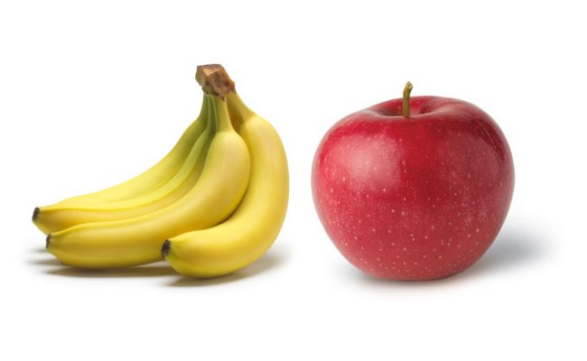 apples vs bananas