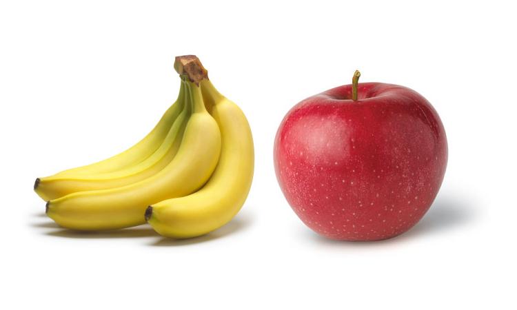 apples vs bananas