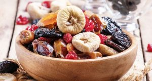Bowl of dried fruits